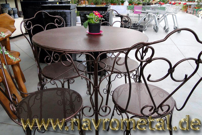 gartenmobel set metall. Black Bedroom Furniture Sets. Home Design Ideas